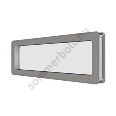 DOCO ablak rozsdamentes kerettel - 60x20cm