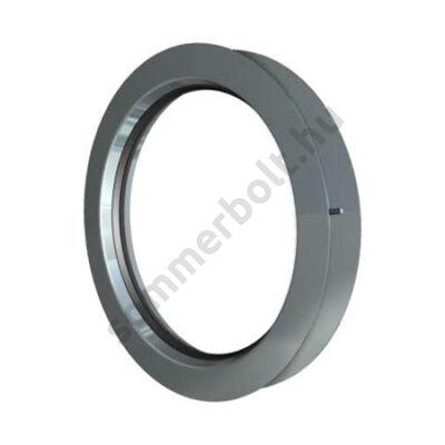 DOCO kör alakú ablak - rozsdamentes acél kerettel
