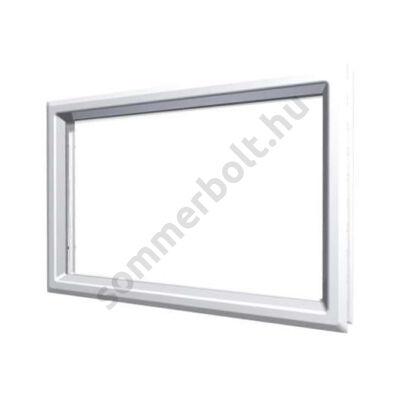 DOCO ablak fehér faerezetes műanyag kerettel - 48x32cm