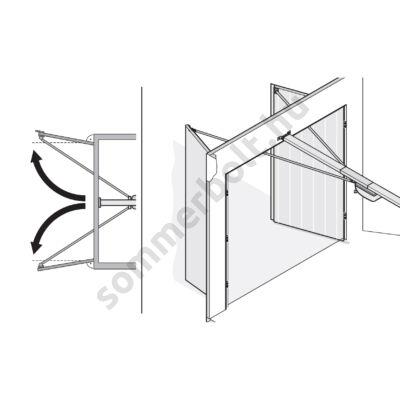 Sommer kétszárnyú garázsajtó adapter