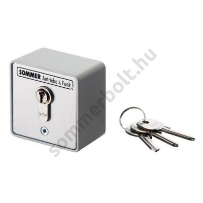 Sommer kulcsos kapcsoló - falon kívüli, 2 érintkezős