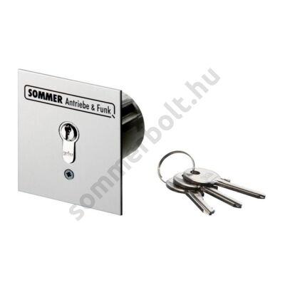 Sommer kulcsos kapcsoló - süllyesztett, 2 érintkezős